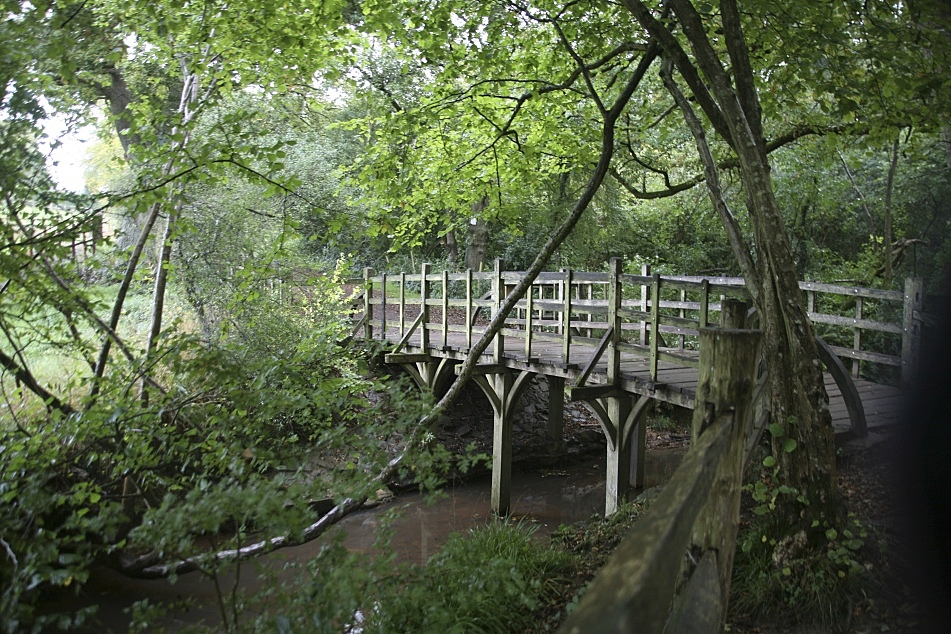 "Ashdown Forest in southeastern England is in the inspiration for the Hundred Acre Wood in ""Winnie-the-Pooh."" Pictured is Poohsticks Bridge. Courtesy of Kathryn Aalto"