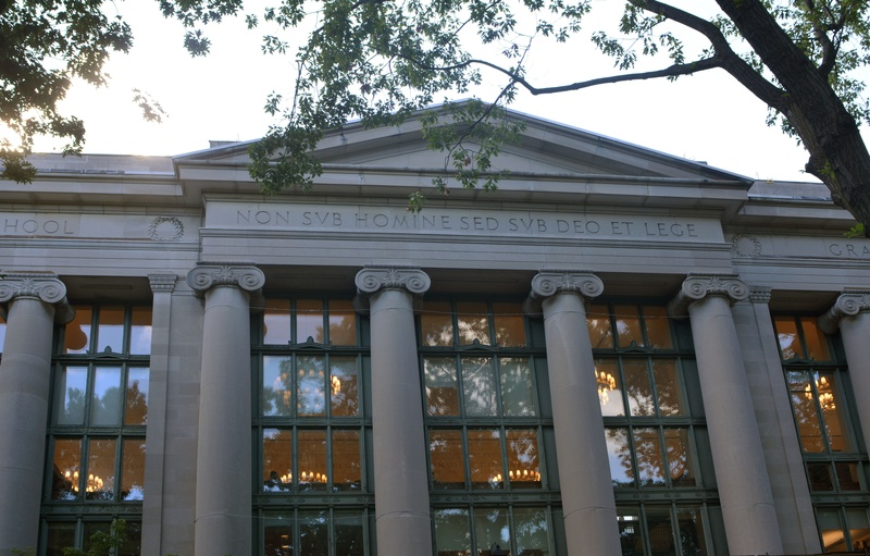 The Harvard Law School library. Annie E. Schugart