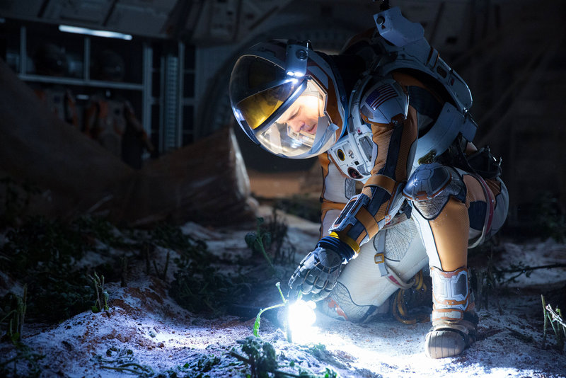 Matt Damon portrays an astronaut who relies on science to survive on a hostile planet. Giles Keyte/EPKTV