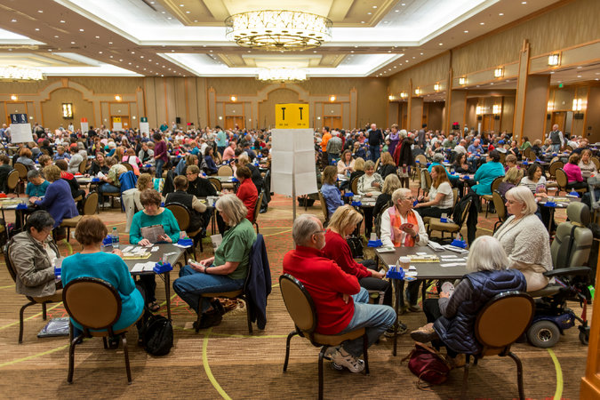 The North American Bridge Championships this week attracted many retirees. Researchers say competitive tournament have purpose and meaning, much as unpaid work does. Credit Matt Nager for The New York Times