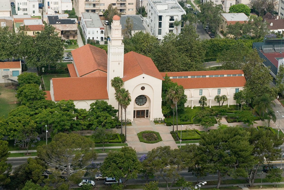 An aerial view of the Margaret Herrick Library