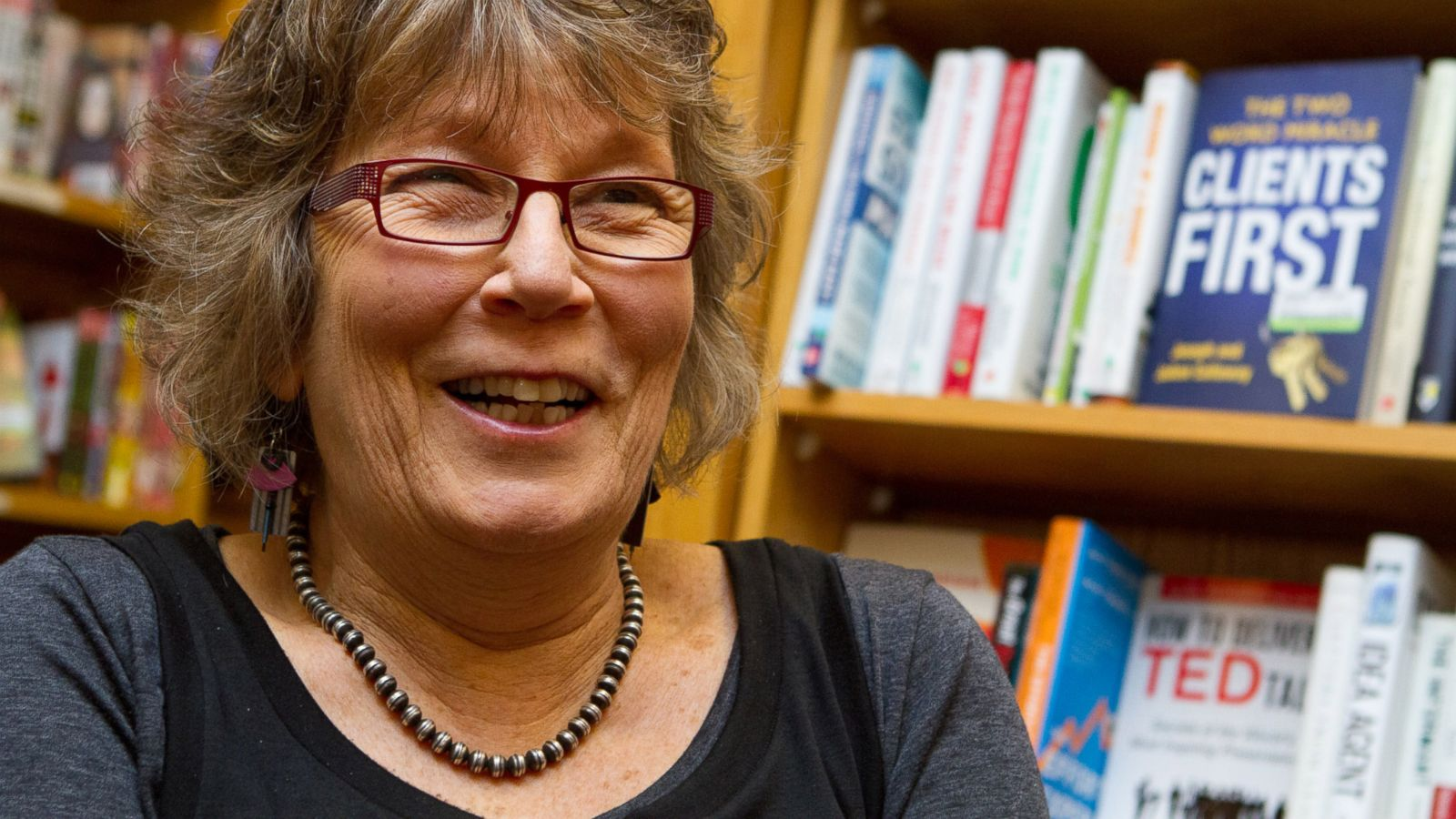 "This 2013 photo provided by Changing Hands Bookstore shows, owner Gayle Shanks, in the Changing Hands Bookstore in Tempe, Ariz. In 1974, Shanks was a 23-year-old idealist raised on the activism of the previous decade and anxious to make a difference herself. ""Books had changed my life and I assumed they could change other people's lives as well,"" says Shanks, whose Changing Hands Bookstore is now among the country's leading independent sellers. (Kristi Church/Changing Hands Bookstore via AP)"