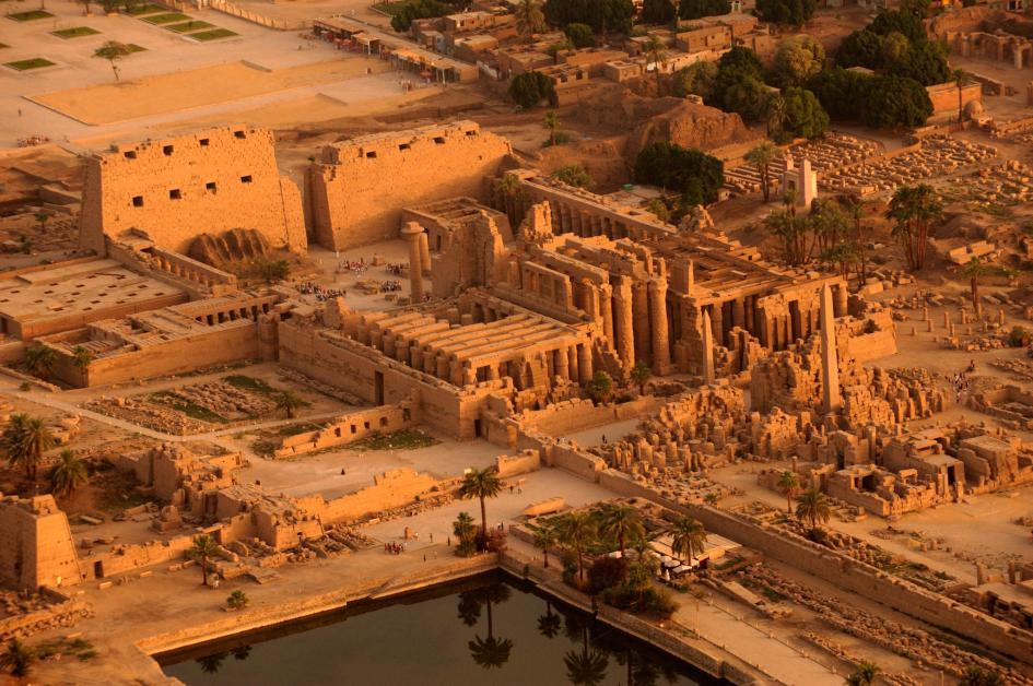 Egypt's Karnak Temple was built in alignment with the solstice, in order to focus light on a shrine to the sun god. Photograph by Kenneth Garrett, National Geographic Creative