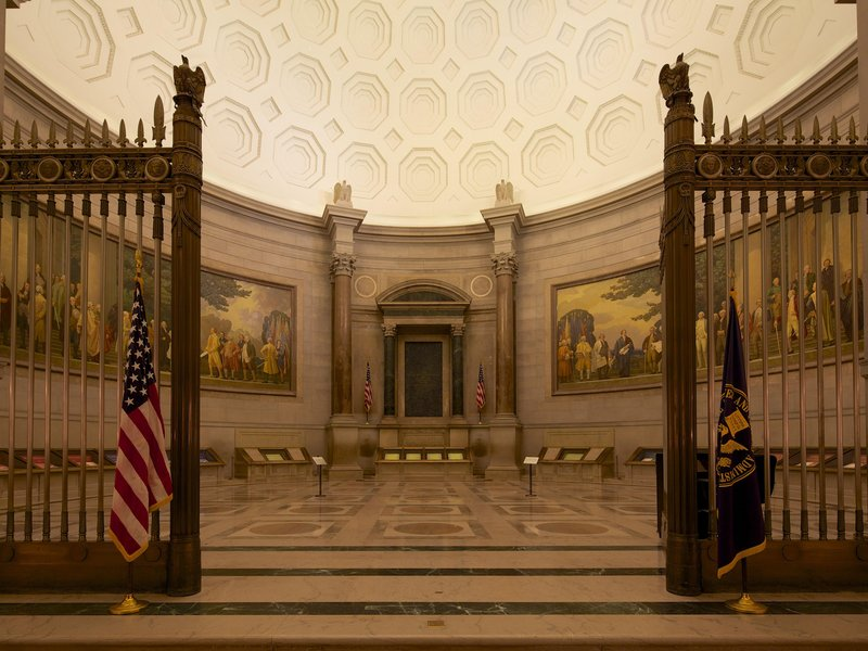 Today, America's founding documents reside in the Rotunda for the Charters of Freedom in the National Archives. (Jeff Reed/U.S. National Archives)