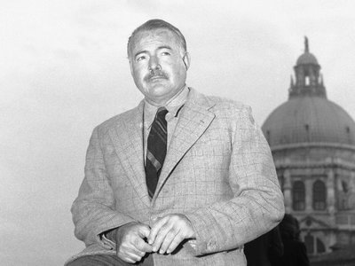 Ernest Hemingway, pictured in 1948, and other famous figures throughout world history are often wrongly given credit for quotes and phrases. The author of Hemingway Didn't Say That: The Truth Behind Familiar Quotations aims to set the record straight. Anonymous/ASSOCIATED PRESS