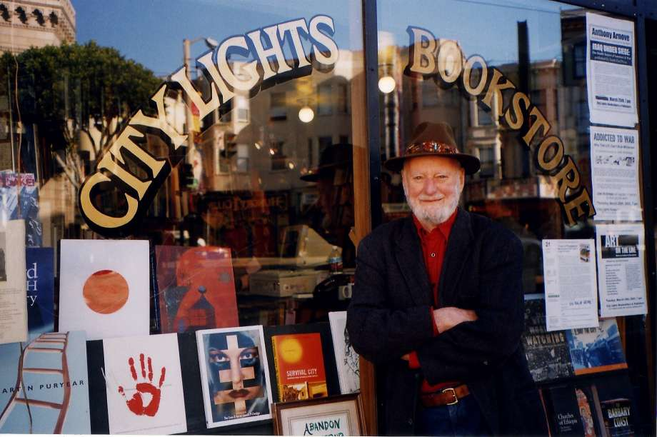 Photo: Stacey Lewis Literary godfather Lawrence Ferlinghetti, now 98, founded City Lights in 1953.