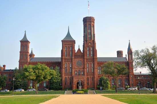 Smithsonian Institution | The Smithsonian Institution's first building, known as the Castle, was completed in 1855. © Wangkun Jia/Dreamstime.com
