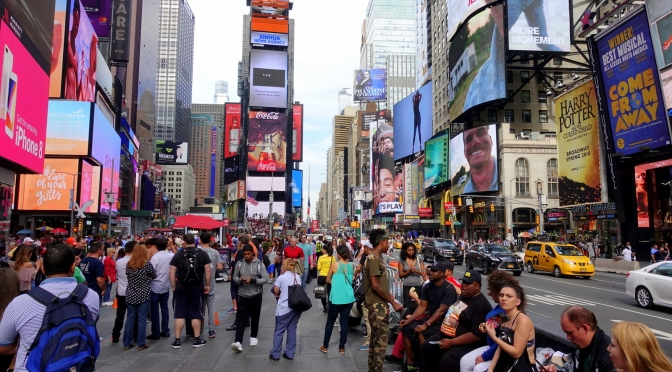 New York City ~ Time Square, St Patrick's Cathedral, Chrysler Building
