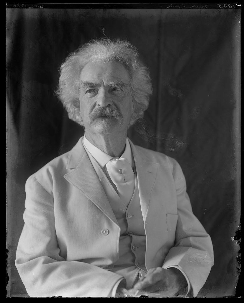 Mark Twain. Photograph by Frances Benjamin Johnston, 1906.