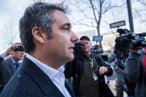 Michael Cohen leaves the Monocle restaurant on Capitol Hill on Thursday, February 21, 2019. By Tom Williams/CQ Roll Call.