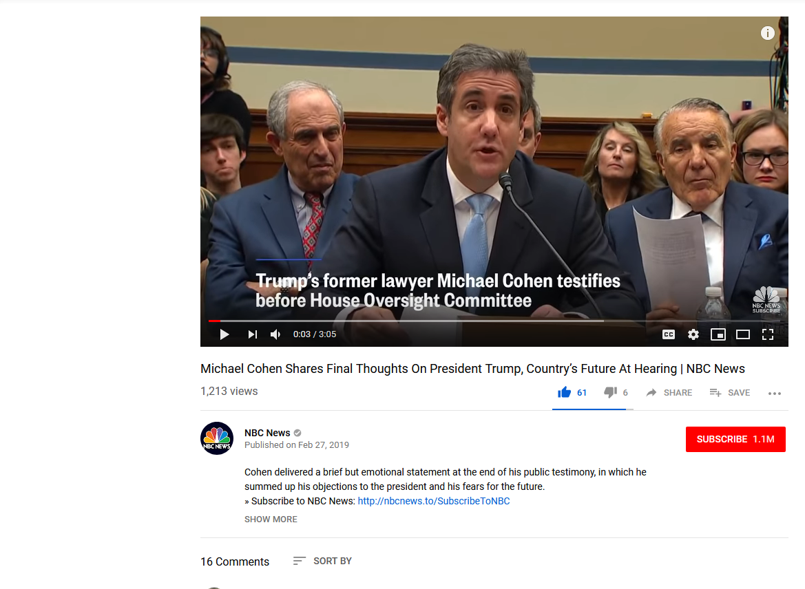 Screenshot_2019-02-27 (79) Michael Cohen Shares Final Thoughts On President Trump, Country's Future At Hearing NBC News - Y[...]