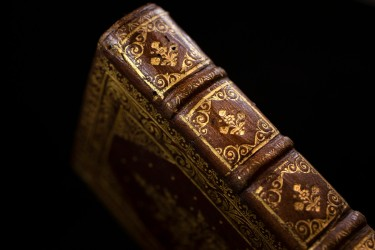 "The binding and a vividly illuminated page from ""Heroides,"" the humanist manuscript by the Roman poet Ovid."