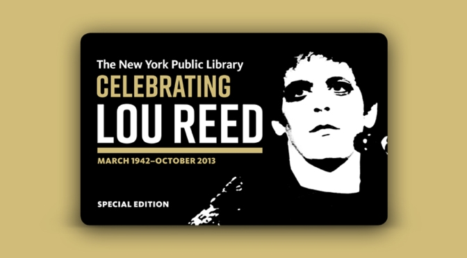 Lou Reed Archive at The New York Public Library for the Performing Arts | The New York Public Library