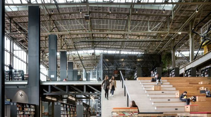 Converted warehouse becomes LocHal public library in the Netherlands – Curbed