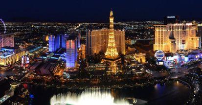 A view of Paris Las Vegas from the Bellagio   Photo by Las Vegas News Bureau