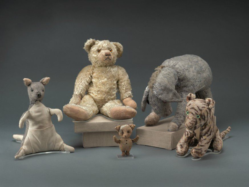 Winnie-the-Pooh dolls owned by A.A. Milne's son Christopher Robin (Jonathan Blanc/NYPL)