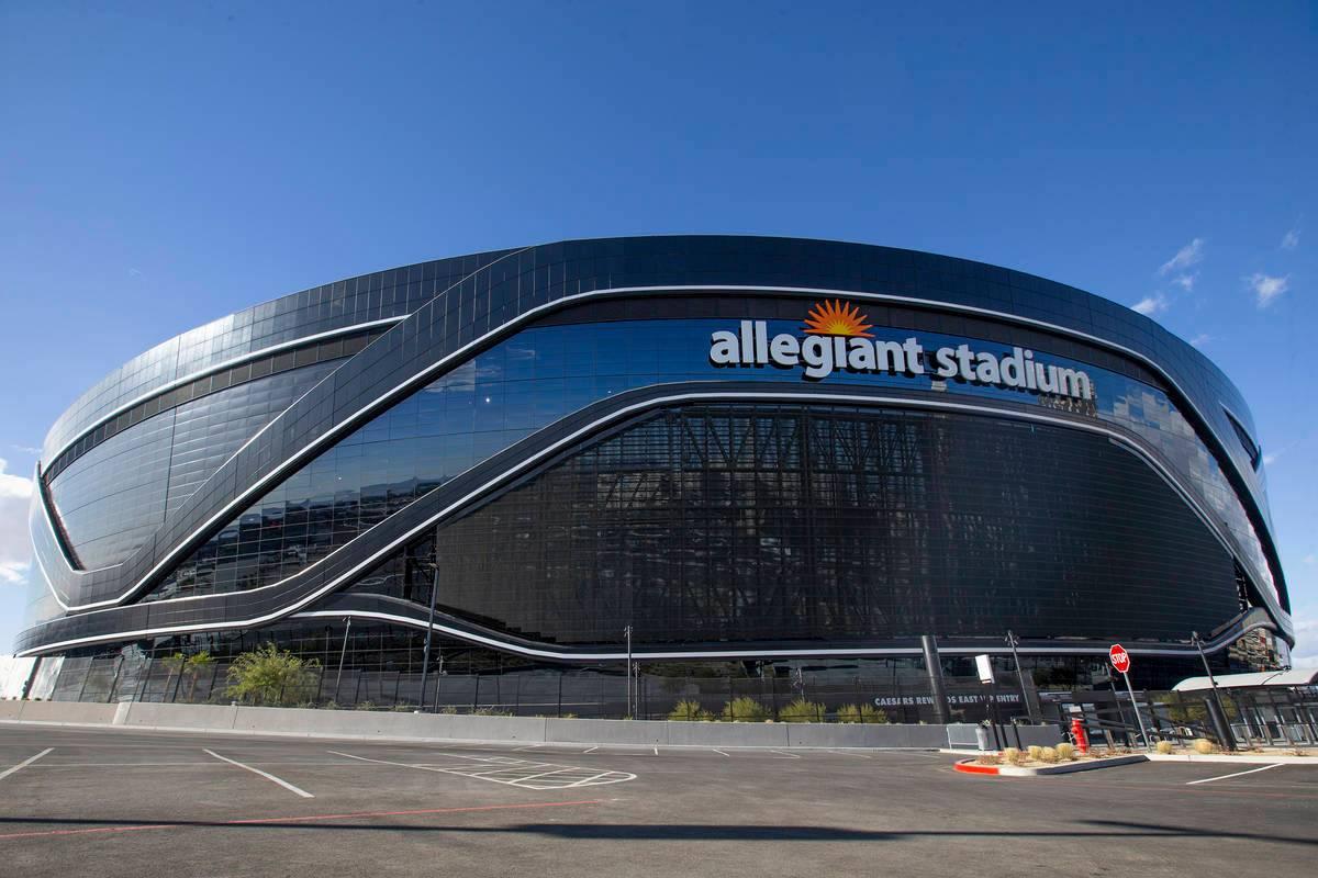 Allegiant Stadium is seen on Saturday, Dec. 12, 2020, in Las Vegas. (Ellen Schmidt/Las Vegas Review-Journal) @ellenschmidttt