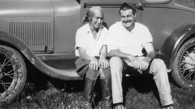 "From left, Frances ""Bunny"" Thorne and Ernest Hemingway enjoy each other's company while in Sheridan County. Courtesy photo 