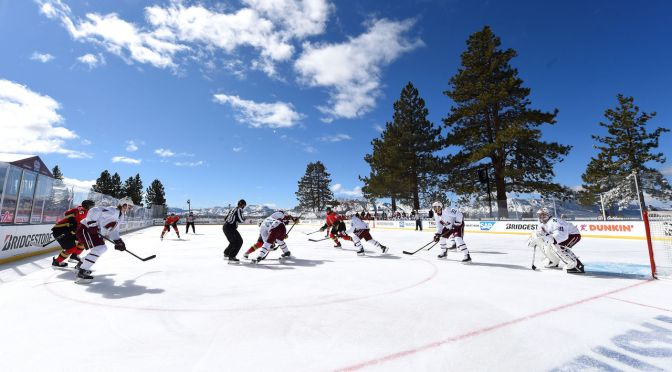 10 incredible photos from Golden Knights-Avalanche game at Lake Tahoe | theScore.com