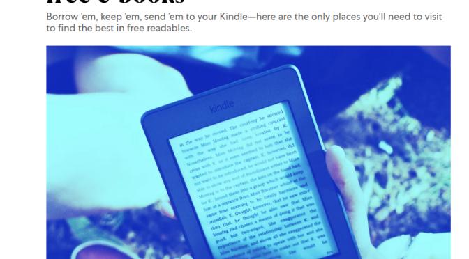 Free e-books: Where to get them